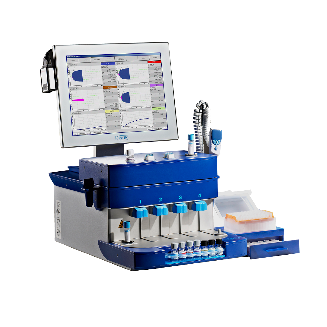ROTEM delta analyzer and ROTEM platelet module